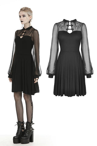 Gothic sexy butterfly mesh dress DW455