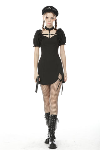 Gothic cross ghost bubble short sleeve dress  DW491