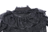 IW076 Gothic lolita hearted lace blouse
