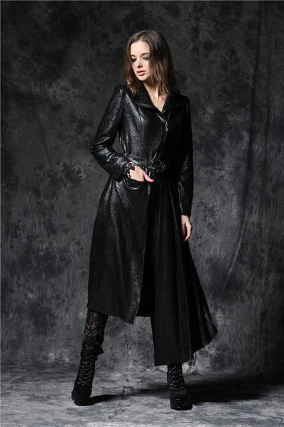 JW093 Gothique asymmetric bouffancy robe jacket with ghost belt