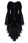Gothic noble velvet pleated cocktail jacket JW104 - Gothlolibeauty