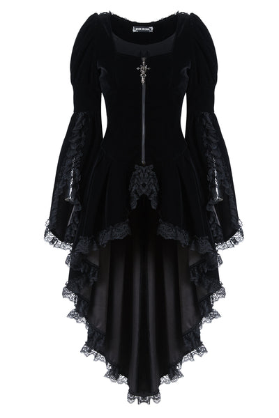 JW104 Gothic noble velvet pleated cocktail jacket