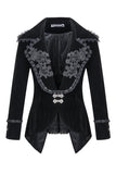 Gothic velvet jacket with flowers collar JW113 - Gothlolibeauty