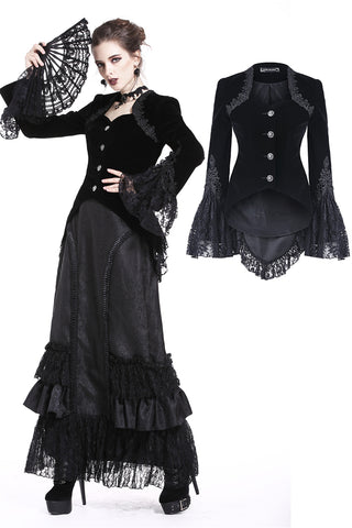 Gothic button jacket JW160 - Gothlolibeauty