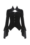 Gothic gorgeous bishop sleeves buttoned velvet jacket JW172 - Gothlolibeauty