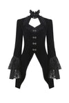 JW174 Gothic velvet swallow lace tail jacket - Gothlolibeauty