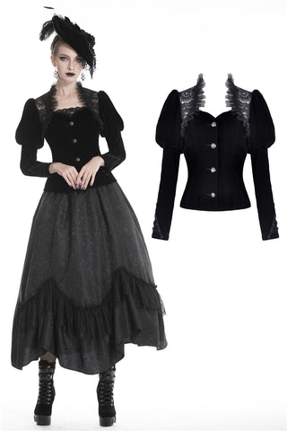 Gothic jacket with puff sleeves JW190 - Gothlolibeauty