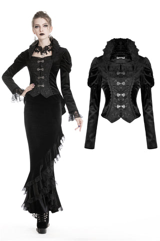 Gothic velvet two-pcs jacket JW191 - Gothlolibeauty