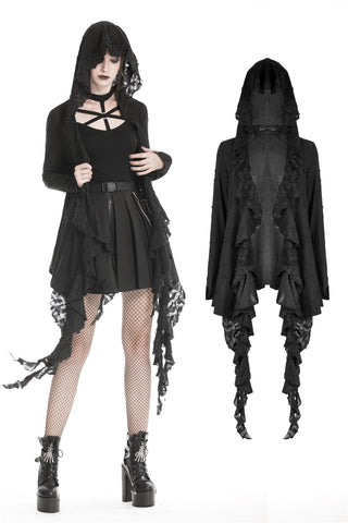 Punk alternative rock baggy hooded jacket JW194 - Gothlolibeauty