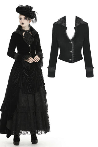 Gothic queen button up velvet jacket  JW220