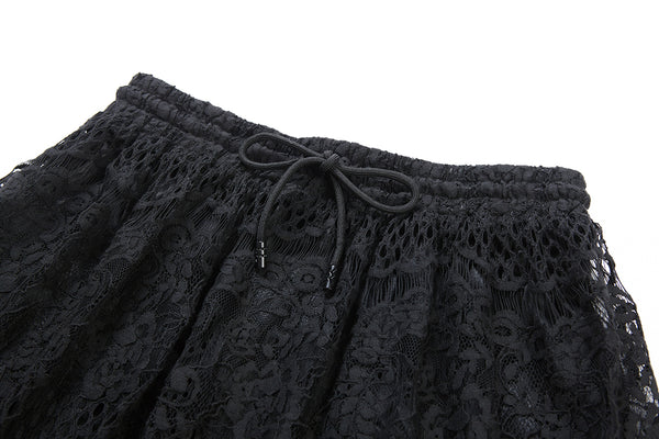KW097 Casual hollow-out lace skirt