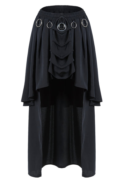 KW113 Gothic ring band cocktail chiffon skirt