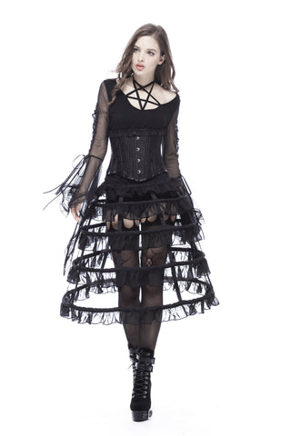 Gothic lolita layers petticoat with solf fishbone KW114 - Gothlolibeauty