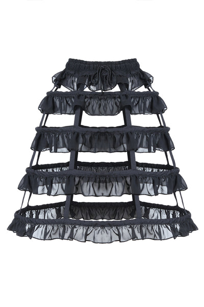KW114 Gothic lolita layers petticoat with solf fishbone