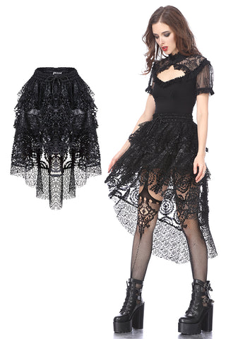 Punk messy cocktail short skirt KW121 - Gothlolibeauty