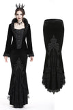 Gorgeous mermaid lacey velvet tight maxi skirt KW134 - Gothlolibeauty