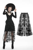Black casual star mesh transparent decorate skirt KW143 - Gothlolibeauty