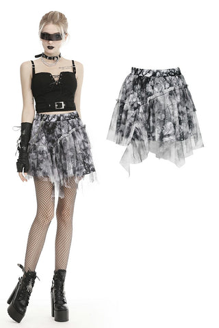 Punk decadent dyeing mini skirt  KW184