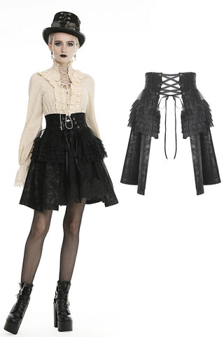Steampunk layered short skirt KW186