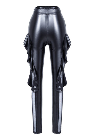 Punk sexy pleated side legging pants PW081 - Gothlolibeauty