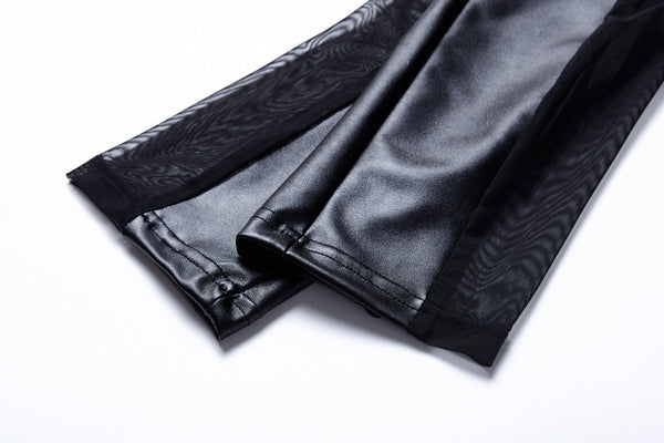PW081 Punk sexy pleated side legging pants