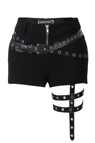 PW085 Punk rivet shorts with surround thigh design