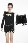 Punk metal shorts PW092 - Gothlolibeauty