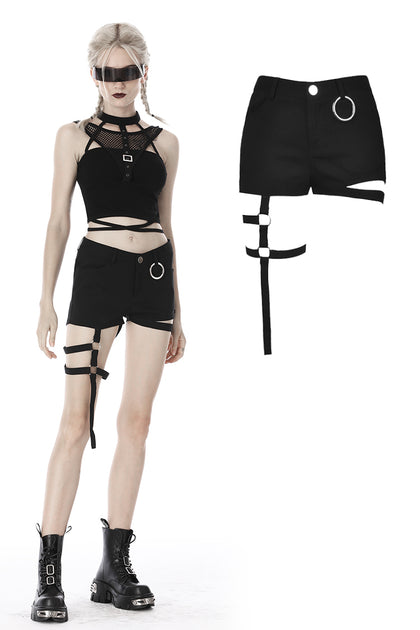 Punk bandage thigh irregular shorts PW103 - Gothlolibeauty