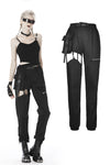 Punk irregular hollow thigh casual trousers  PW108 - Gothlolibeauty