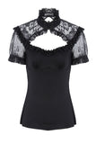 Gothic lace knitted T-shirt TW149 - Gothlolibeauty