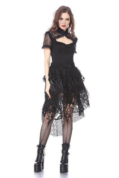 TW149 Gothic lace knitted T-shirt