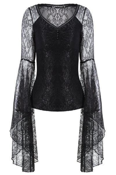 TW150 Gothic lace T-shirt with big sleeves