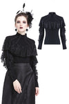 Punk lacey knitted T-shirt TW176 - Gothlolibeauty