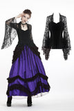 Gothic gorgeous lace horn sleeves T-shirt TW188 - Gothlolibeauty