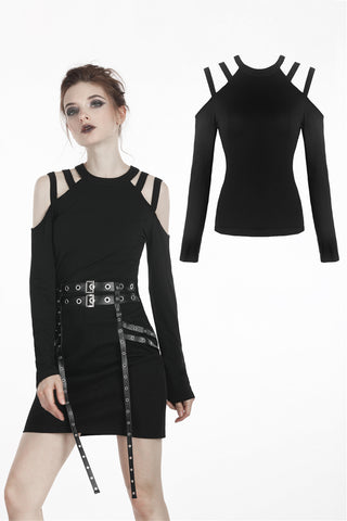 Punk daily wear long sleeves T-shirt TW197 - Gothlolibeauty