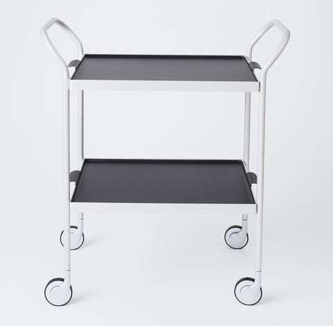 Modern Trolley Silver with Black trays