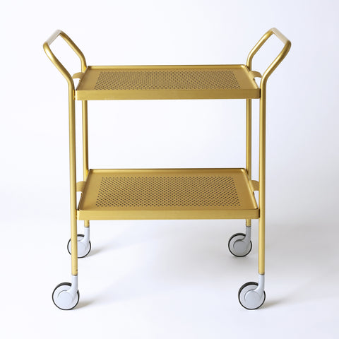 Modern Trolley Gold with Rubber Grip Trays