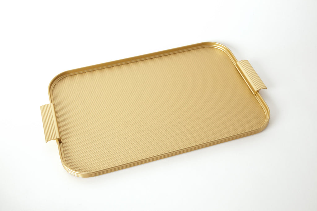 Ribbed Tray S18 Gold
