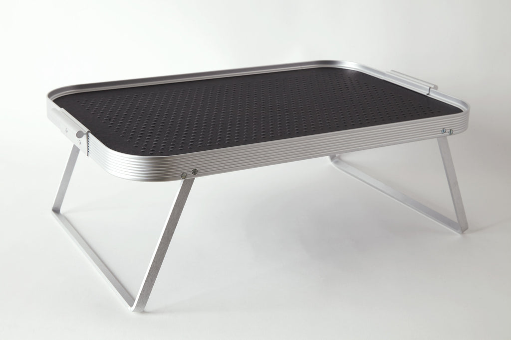 Lap Tray, Silver + Black