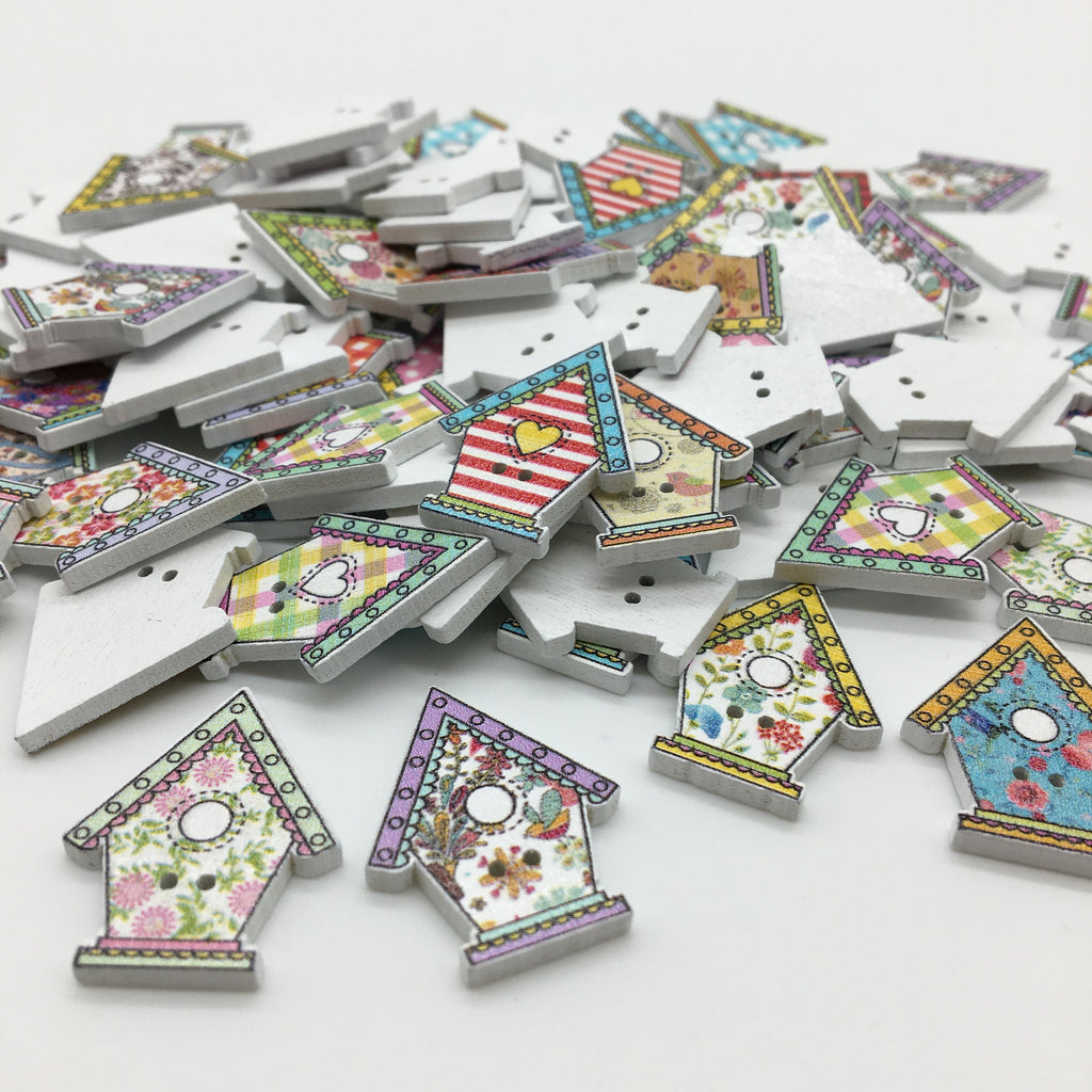 Birdhouse Buttons - Pack of 4