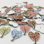 Heart Tree Buttons - Pack of 6