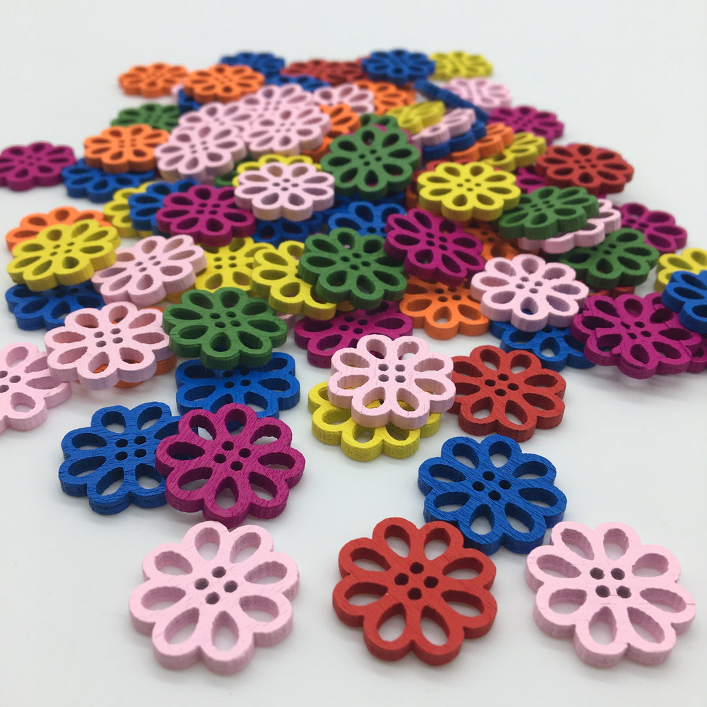 Flower Buttons - Pack of 8