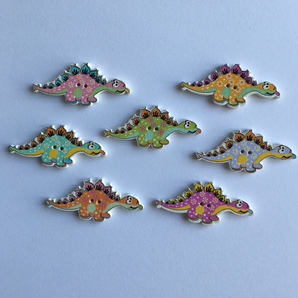 Dinosaur Buttons - Pack of 4