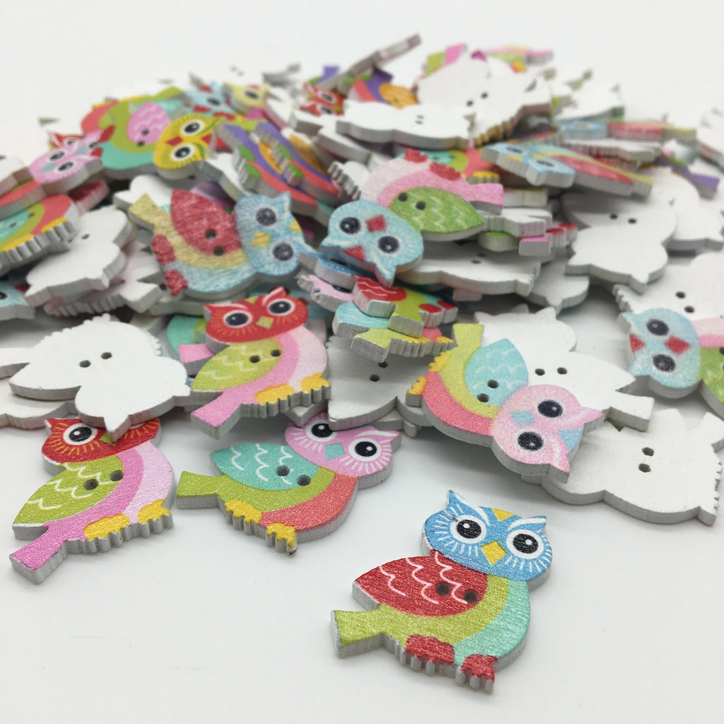 Owl Buttons - Pack of 5