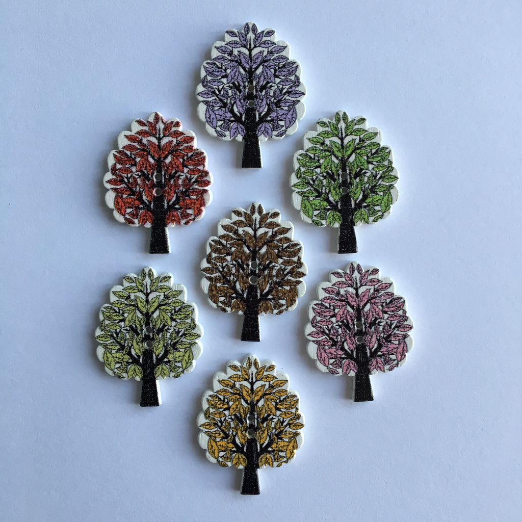 Tree Buttons - Pack of 5