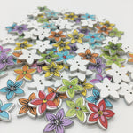 Small Flower Buttons - Pack of 8