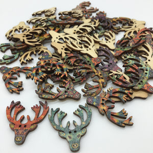 Stag Buttons - Pack of 4