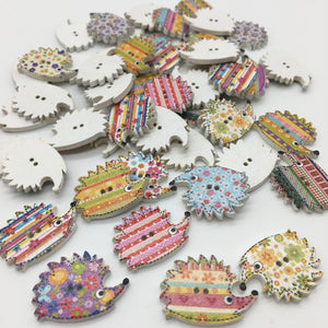 Hedgehog Buttons - Pack of 4