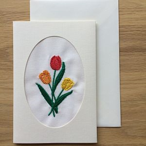 Floral Cameo card - Tulip