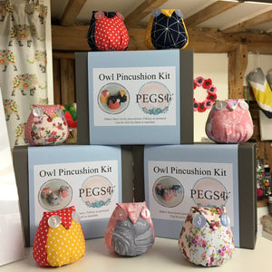 Owl Pincushion Kit (Marble)